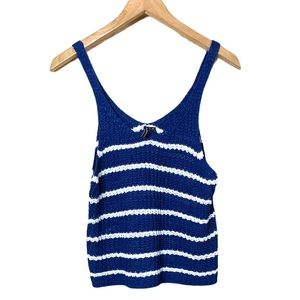 MOON & MADISON STRIPED SWEATER TANK TOP